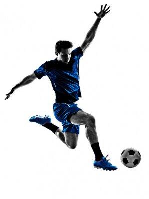 Fototapeta włoski piłkarz sylwetka człowieka