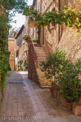 Fototapeta Włoski styl uliczny ozdobione kwiatami