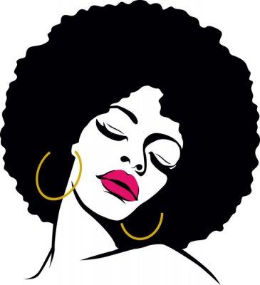 Fototapeta włosy afro hippie kobieta pop art