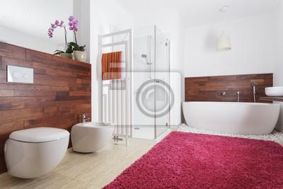 Wnętrze łazienka Z Drewna Egzotycznego Fototapety Redro