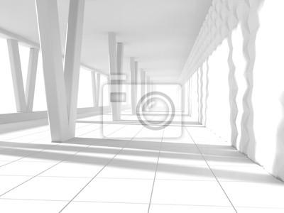 Fototapeta Wnętrze renderowania 3D pusty