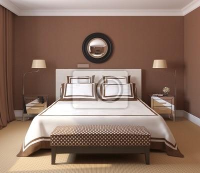 Fototapeta wn trze sypialni na wymiar nowoczesny - Chambre adulte chocolat ...