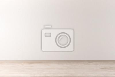 Fototapeta Wnętrze ze ściany lekkiej i drewnianej
