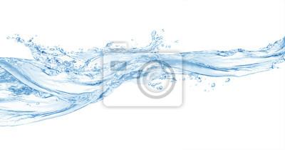 Fototapeta Woda, plusk wody na białym tle, plusk wody