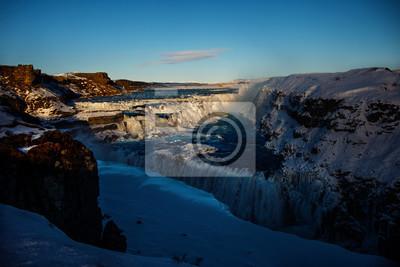 Wodospad Gullfoss, Islandia