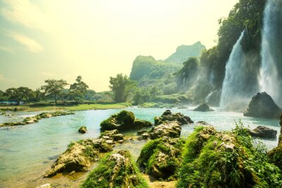 Fototapeta Wodospad w Wietnamie