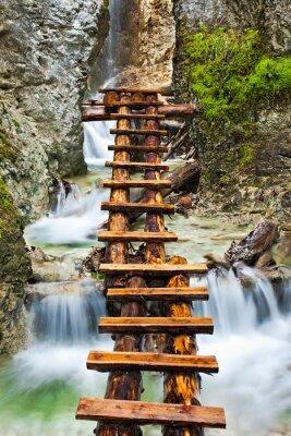 Fototapeta Wodospad (z drewna Schody)