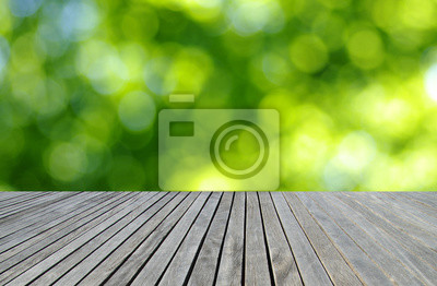 Wood texture and green background