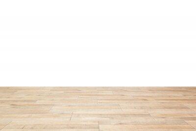 Fototapeta wooden floor on white background.
