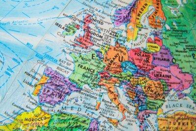 Fototapeta World Globe Mapa bliska Europy