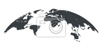 Fototapeta World map globe isolated - stock vector