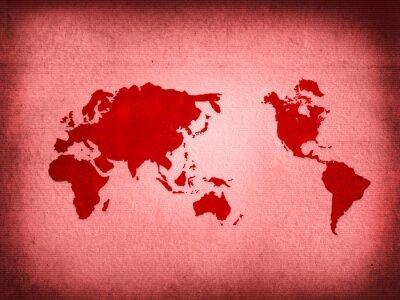 Fototapeta world map-vintage artwork