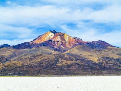 Fototapeta Worlds największym zwykły soli Salar de Uyuni, Boliwia z wulkanu
