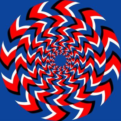 Fototapeta Wpływ rotacji z optycznym efektem iluzji