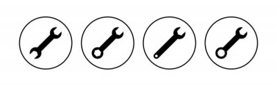 Fototapeta Wrench icon set. repair icon vector. tools icon vector