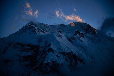 Wschód słońca, Annapurna, Himalaje, Nepal
