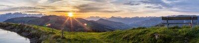 Fototapeta Wschód słońca na Górze