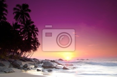 Fototapeta Wschód słońca na Sri Lance