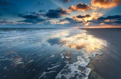 Fototapeta wschód słońca nad wybrzeża Morza Północnego
