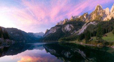 Fototapeta Wschód słońca w Alpach