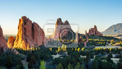 Fototapeta Wschód słońca w Garden of the Gods w Colorado Springs, Kolorado