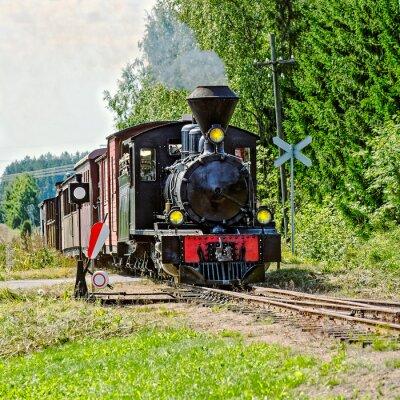 Fototapeta Wskaźnik pociąg parowy wąskie.