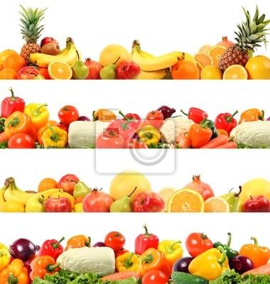 wspaniała kompozycja warzyw i owoców wysokiej jakości