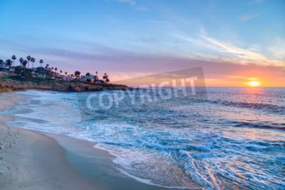 Fototapeta Wspaniały zachód słońca w La Jolla w Kalifornii