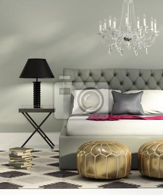dbea946b7ab25f Fototapeta Współczesna elegancki luksus szary sypialnia na wymiar ...