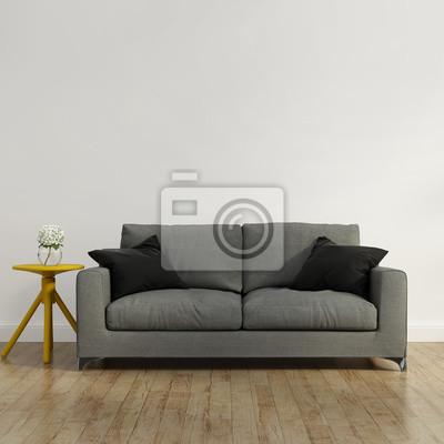 182cdcfb7025c3 Fototapeta Współczesna szara kanapa na wymiar • czerwony, nowoczesny ...