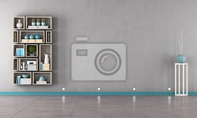1a7c10846ba4a8 Fototapeta Współczesna szary salon na wymiar • nowoczesny, piętro ...