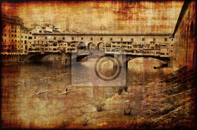 Fototapeta Wspomnienia z Ponte Vecchio