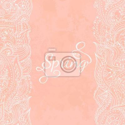 Wstążki koronki w kolorze różowym