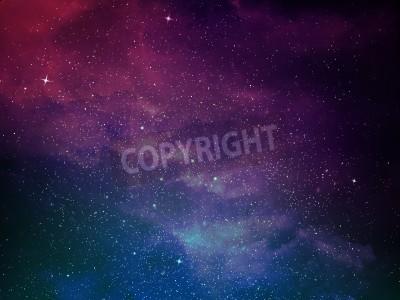 Fototapeta Wszechświat pełen gwiazd, mgławic i galaktyki