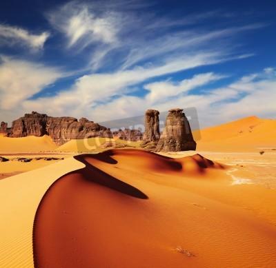 Fototapeta Wydmy i skały, Pustynia Sahara, Algieria