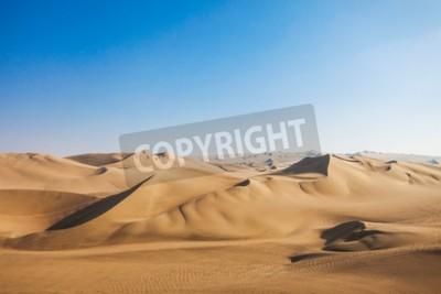 Fototapeta Wydmy pustyni Huacachina w regionie Ica, Peru