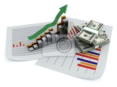 Wykres biznesowych 3d