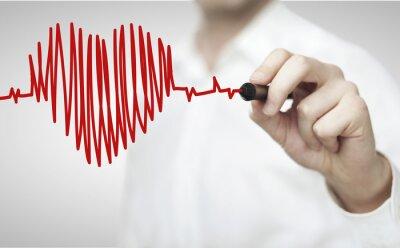 Fototapeta wykres serca na ścianę szpitala