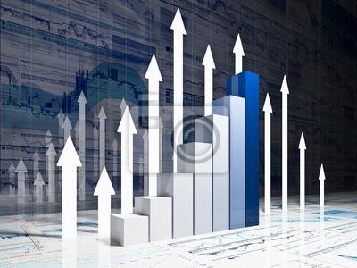 Fototapeta wykres wykres finansowych