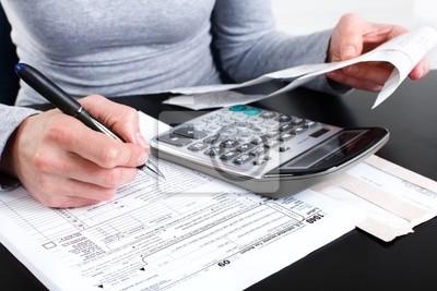 Wypełnianie formularza podatkowego