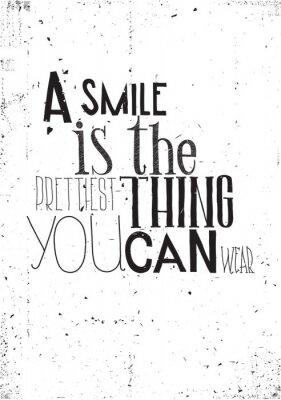 Fototapeta Wyrażenie, uśmiech jest prettilest co można nosić