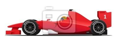 Fototapeta Wyścig Samochód Formuły red szczegółowa