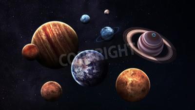Fototapeta Wysokiej jakości planet układu słonecznego.