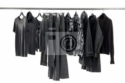Wyświetlacz Fashion rack odzież na białym
