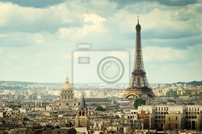 Fototapeta Wyświetlanie na wieży Eiffla, Paryż, Francja