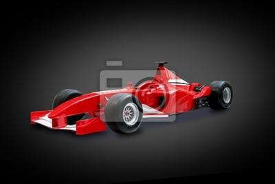 Fototapeta wzór czerwony jeden samochód w czarnym tle