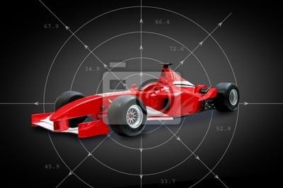 wzór czerwony jeden samochód w czarnym tle