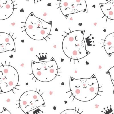 Fototapeta wzór królowej kota