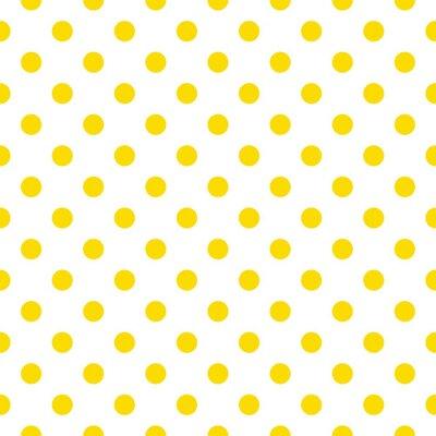 Fototapeta Wzór płytki wektor z żółtymi kropki na białym tle