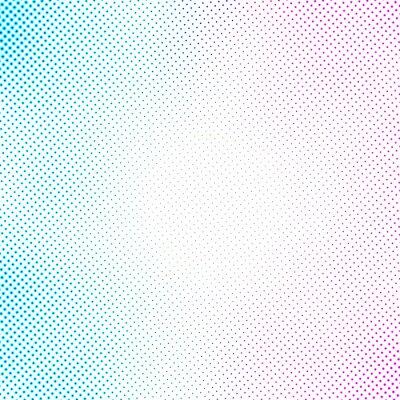 Fototapeta wzór półtonów niebieski różowy